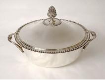 Solid silver vegetable Minerva goldsmith Schiffmacher 1223gr silver twentieth
