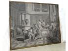 Large grisaille wallpaper Psyche nymphs Joseph Dufour 225x190cm XIXth