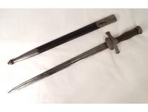Hunting dagger horn pommel silver metal way Viollet-le-Duc nineteenth