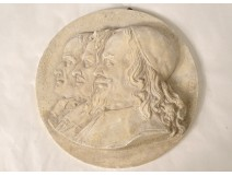 Plaster medallion brothers Jean Eudes Houay Mézeray de Montzey nineteenth mold