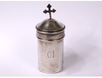 Holy OI oil bulb disabled patients solid silver Minerva 22gr XIXth