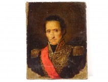 HST painting signed Nicolas Gosse portrait Marshal of France Soult 1832 XIXth
