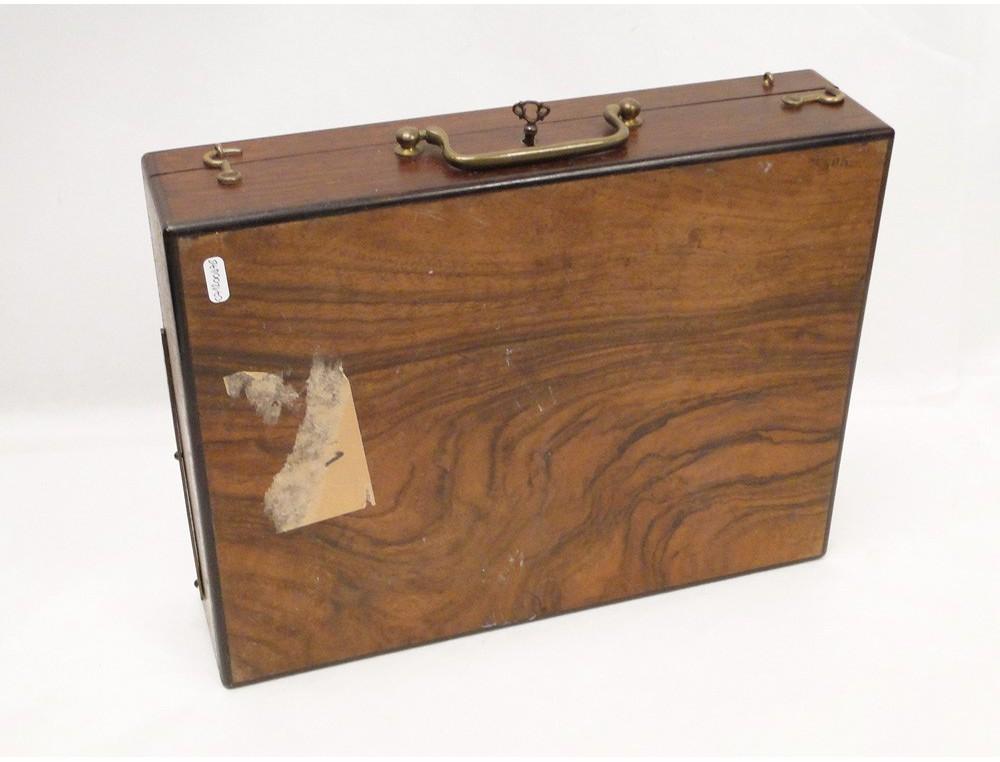 Case Painter Rosewood Bronze Palettes 19th