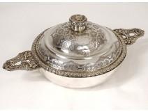 Bouillon ears Louis XIV sterling silver Minerve Béguin Paris 844gr nineteenth