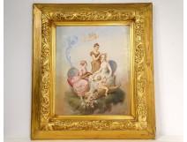 HST table Henri-Pierre Picou young elegant women Loves cherub nineteenth