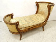Empire duchess child's lounge chair in a nineteenth swans gondola boat