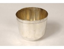 Sterling silver goblet Farmers General Paris 35.4gr 18th century