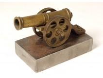 Small bronze defense alarm cannon scaring alarm late 19th century