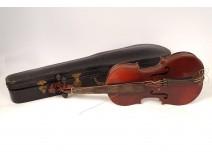 Whole violin Thévenin luthier patented Paris bow case late nineteenth twentieth