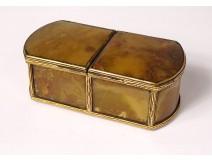 Small box double agate box gilded brass Restoration XIXth