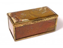 Small box box agate foam gilded brass Restoration XIXth century