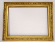 Empire frame in gilded stucco wood nineteenth century palmettes