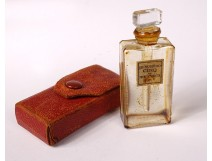Small miniature perfume bottle Molyneux Paris Number Five twentieth leather case