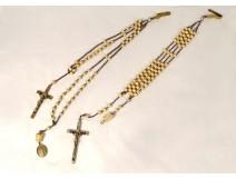 Lot 2 community rosaries cross crucifix rosary Marie St Augustin XIXth