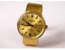 Eterna Sonic Sevenday Electronic wristwatch 18K solid gold twentieth