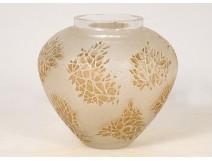 René Lalique molded blown glass vase model Esterel laurier-rose twentieth