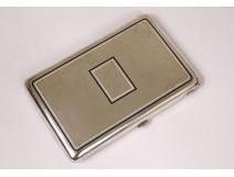 Cigarette case box sterling silver enamel Hermès Paris Art Deco twentieth