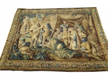 Large Aubusson tapestry Alexander the Great tent Darius 305x414cm XVIIth