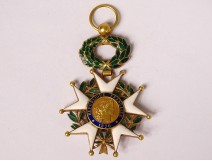 Medal Legion of Honor officer solid gold enamel IIIrd Republic XIXth