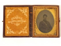 Daguerreotype photograph soldier Union Civil War Anson Broadway NY 19th