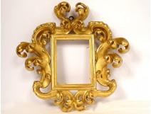 Italian frame carved gilded wood foliage rockery Italy eighteenth century