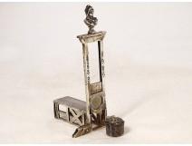 Commemorative guillotine cigar cutter sterling silver Minerve Marianne twentieth