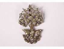 Norman Holy Spirit pendant solid silver stones Rhine dove knot 19th
