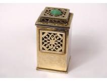Small table perfume burner table lamp in gilded metal Art Deco twentieth century