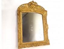 Regency mirror ice carved gilded wood frame shells flowers eighteenth century