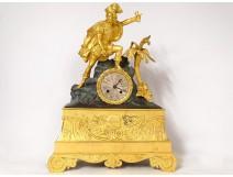 Restoration clock gilt bronze Christopher Columbus America XIXth century