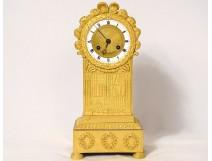 Pendulum terminal Empire gilded bronze library books palmettes Chopin nineteenth