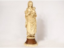 Ivory sculpture Madonna and Child Jesus Germany early 18th century