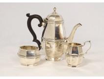 Coffee service 3PC sterling silver English Birmingham Mappin & Webb 403gr XXth