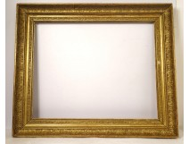 Large Empire gilded stucco wood frame acanthus leaves palm leaves nineteenth century