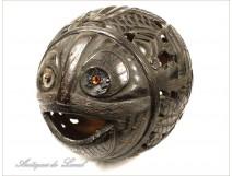 Coconut carved Piggy Bank, Bagnard nineteenth