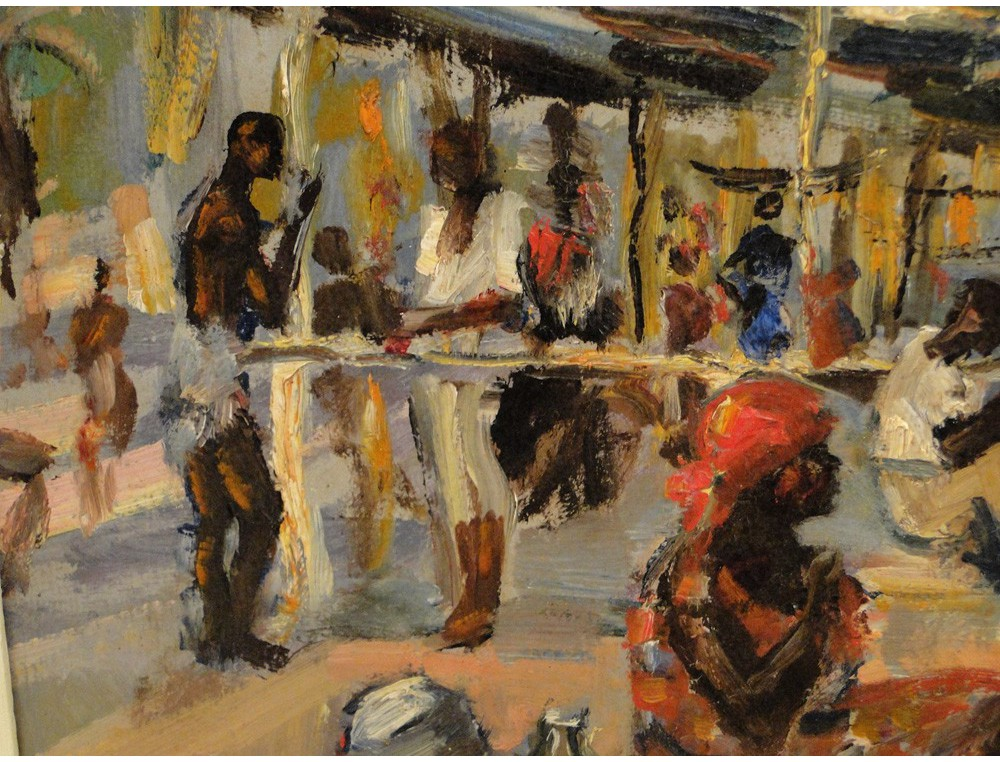 Hsp Painting Scene Market Africa Rwanda Andr 233 Hallet 20th