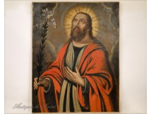 HST portrait painting St. John the Evangelist 17th Fleurs de Lys