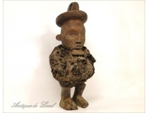 African wooden statuette Fetish ethnic tribal 20th