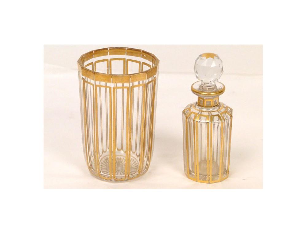Necessary Baccarat Crystal Parfum Bottle NAPIII 19th