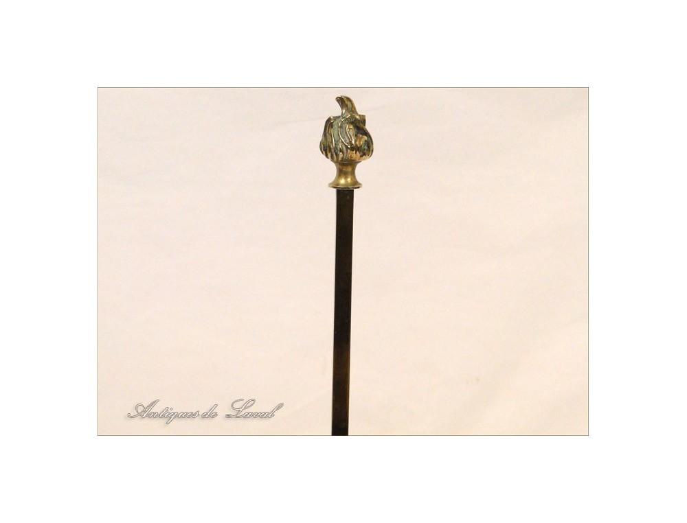 Lampe Bouillotte Empire Lampe A Huile Bronze Dore 20e