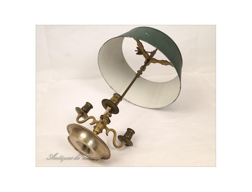 Lampe Bouillotte Empire Bronze Dore 19e