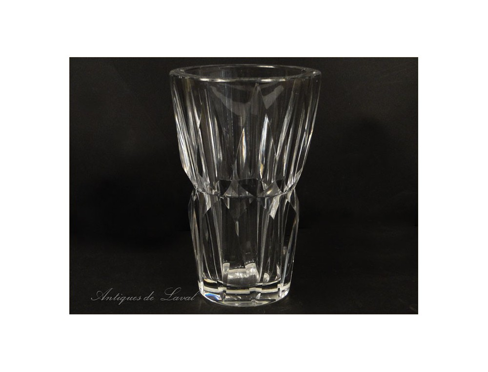 Cut Crystal Vase St Louis Camaret 20th 1950
