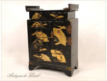 Lacquered wood cabinet range gilding NAPIII 19th