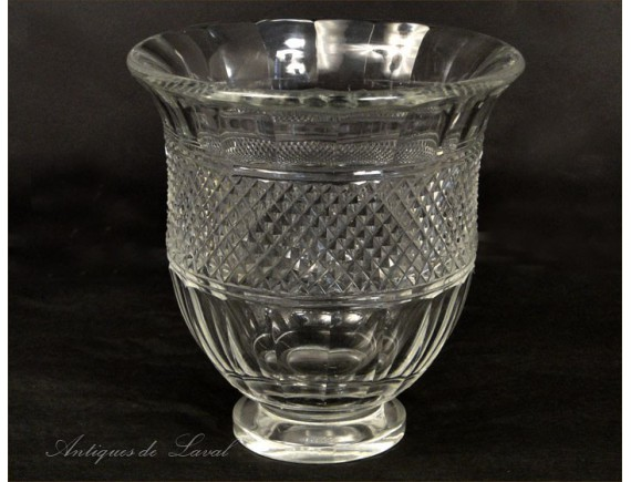Cut Crystal Vase Muse Baccarat France 20th