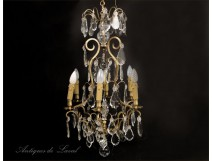 Chandelier Crystal chandelier and gilt bronze, nineteenth