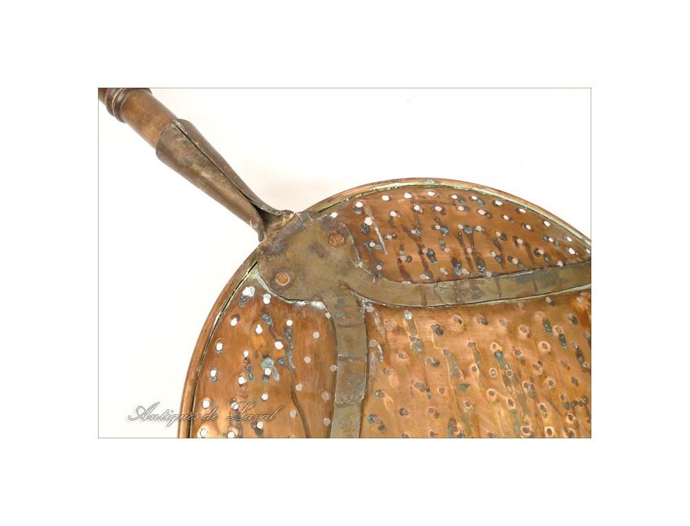 Copper Colander Wooden Handle 18th