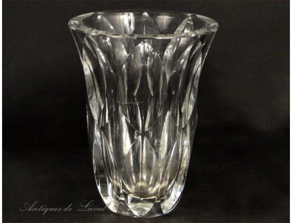 Cut Crystal Vase St Louis 20th