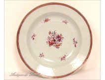Porcelain dish of the East India Company Famille Rose 18th