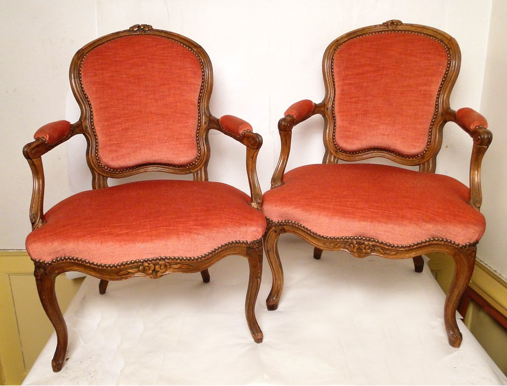 pair of louis xv armchairs stamped eighteenth. Black Bedroom Furniture Sets. Home Design Ideas