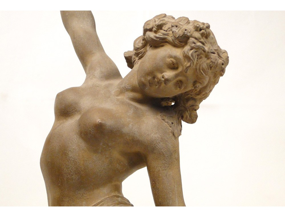 Berühmt Sculpture terre cuite Jeune femme nue Nymphe Lévy Art Nouveau XIXe JE55